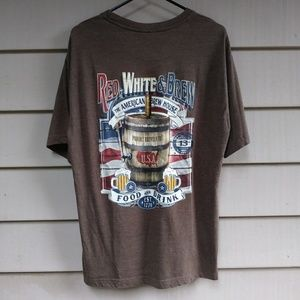 USA Beer T Shirt Large